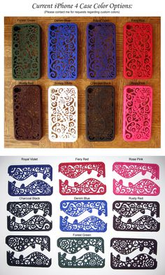 These are for the iPhone 4, they were crafted in the Netherlands and I've seen them sold for $60.00! Wish list item for sure!! I want the hot pink one