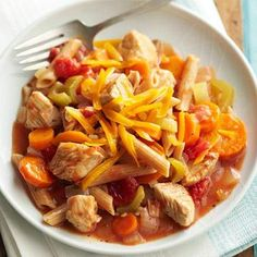Diabetic Slow Cooker Recipes | Diabetic Living Online - Veggies, Chicken and Pasta