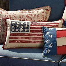 USA Flag Pillow Cover 12x20 Reversible by ChloeandOliveDotCom