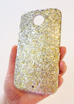 Gold Specks Sequin Bling Cell phone Case Cover For Motorola Moto X (2nd Gen. 2014) by Yunikuna