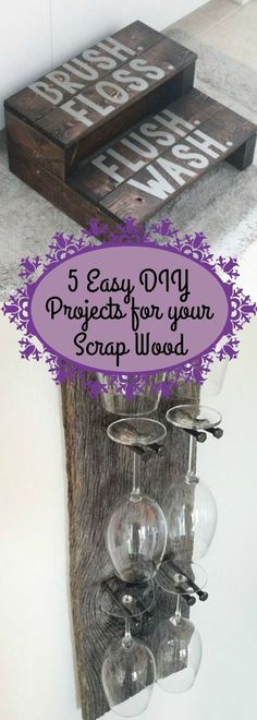 5 easy DIY projects for your scrap wood! They are all easy to make and only take an afternoon! So grab your wood and lets go!