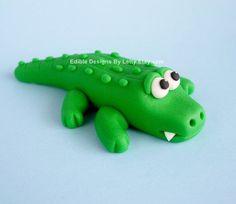 fondant crocodile topper - Google Search