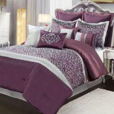 Central Park Amethyst 10-pc. Comforter Set - King