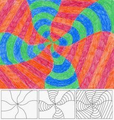 Op Art-Radial Design (4th Grade)