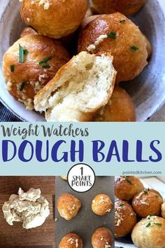 easy to make 2 ingredient dough balls are soft and tasty and are topped with garlic and sea salt. They are just 1 SmartPoint per dough ball on Weight Watchers Freestyle / Flex program. A perfect Weight Watchers side recipeThese easy to make 2 ingredi. Weight Watchers Pasta, Weight Watcher Desserts, Weight Watchers Snacks, Weight Watchers Bread Recipe, Weight Watcher Muffins, Weight Watchers Sides, Weight Watchers Vegetarian, Weight Watchers Casserole, Dough Balls