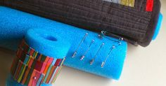 Baste, Store and Ship Quilts – and More! Creative quilters have developed many uses for inexpensive pool noodles (and pipe insulation – look for either at the hardware, dollar store, Walmart, etc.). You may be surprised how useful they are in the sewing room. The noodles are easy to cut to size with a knife …