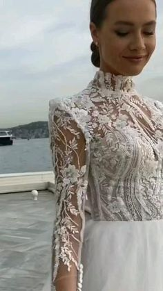 Fancy Wedding Dresses, Barbie Wedding Dress, Vintage Lace Weddings, Weeding Dress, Wedding Dress Sleeves, Bridal Outfits, Bridal Gowns, Jolie Lingerie, Revealing Dresses