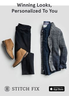 With Stitch Fix, we pair you with a Personal Stylist, who hand-selects clothing and accessories to match your taste, size and price range. What's even better? There's never any commitment—this is fashion on your terms. Try on pieces at home and keep Mens Athletic Fashion, Mens Fashion Wear, Suit Fashion, Fashion Outfits, Mens Modern Clothing, Mens Clothing Styles, Modern Outfits, Casual Outfits, Men Casual