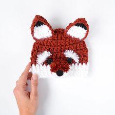 Crochet fox Beanie for newborn baby photography prop www.kbeanies.com