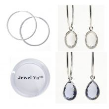 Hoop Earring & Bezel Set Drop Set $98 www.jewelya.com