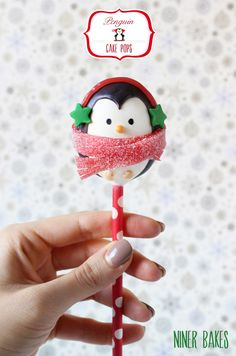 {Tutorial} How to make winter Penguin Cake Pops | niner bakes