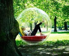 Imagine being in one of these and reading during a rainstorm.