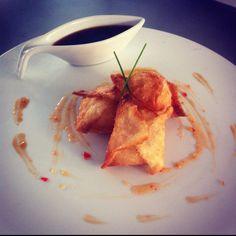 Wontons con salsa agridulce! Cocina oriental..