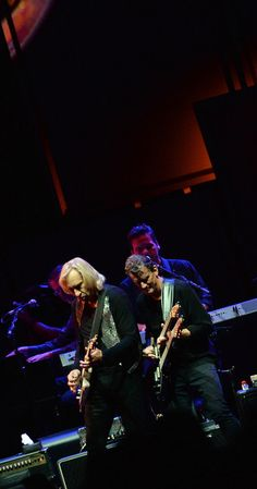 """Joe Walsh Photos - Joe Walsh of the Eagles and Steuart Smith perform during """"History Of The Eagles Live In Concert"""" at the Bridgestone Arena on October 2013 in Nashville, Tennessee. - History of the Eagles Live in Concert Eagles Live, Eagles Lyrics, Eagles Band, Eagles Albums, Joe Walsh Eagles, History Of The Eagles, Glen Frey, Bernie Leadon"""