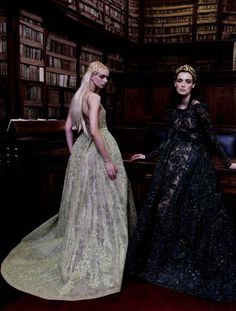 Anastazja Niemen and Marizanne Visser in ELIE SAAB Haute Couture FW 2015-16 shot by Marco D'Amico for Book Moda Winter 2015-16