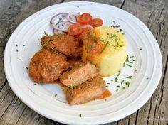 Șnițele de soia de post cu sos de ceapă și mămăliguță Wiener Schnitzel, Tandoori Chicken, Vegan, Ethnic Recipes, Food, Essen, Meals, Vegans, Yemek