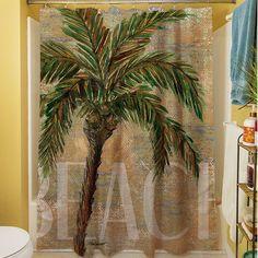 Thumbprintz Beach Palm Shower Curtain & Reviews | Wayfair