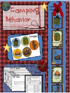 A brand new behavior plan and clip chart for your CAMPING classroom! $5.00