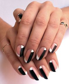 Half french tip is such a cute design.