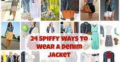 I just got a denim button-down shirt toward the end of June, and I have been burning up Pinterest looking for fun ways to wear it!  Her...
