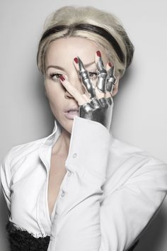 Daphne Guinness photographed by Rankin. Glove by Shaun Leane