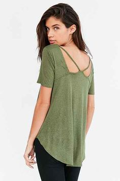 Silence + Noise Abigail Strappy-Back Tee