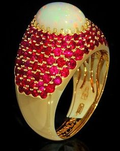 Mousson Atelier Riviera Gold 750 Opal Ring R0072-0/16