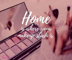 Home is where your makeup stash is. #FleurtBoutique #Makeup #Weekend #Inspiration