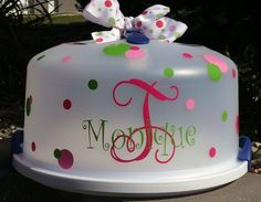 I think this is a great idea and I have an old cake carrier that needs some sprucing up.