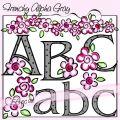 Frenchy Alphabet - Gray