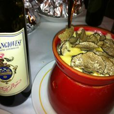 #truffle and Cheese at Osteria Del Teatro in #cortona. Our best restaurant in the area!