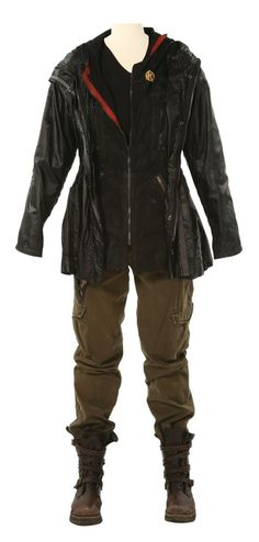 Katniss's distressed version of her arena outfit