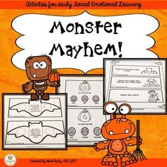 Monster Mayhem: early social emotional learningThis print and go, low ink packet is perfect for your little monsters working on social emotional learning!Included in the packet are four units:Batty Bodies:  Figure out if we are keeping our bodies calm or notJack-O-Lantern Emotions: Decide how Jack might be feelingMonster Mash Act It Out:  Imitate movements of these spooky friends without using wordsProblem Pumpkins:  Listen and decide if a problem is big, medium or a little problemIncluded…