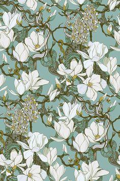 Motifs Art Nouveau, Art Nouveau Mucha, Motif Art Deco, Animes Wallpapers, Cute Wallpapers, Wallpaper Backgrounds, Illustrations, Illustration Art, Molduras Vintage