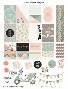 Planner & Journaling Printables ❤ FREE Look Around Sampler Planner Sticker Printables- freebie by AMHales: