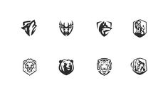 This project presents a collection of my shield shaped animal logos. Animals you can see: Wolf, Lion, Deer, Tiger, Bear, Mammoth.