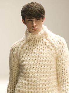 3b2cbd50beb6f1 Ezra Constantine Chunky Knit Sweater