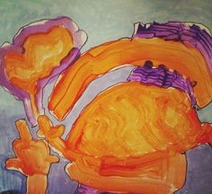 """""""Happy Dragons Blow Fire"""" by MJF, age 5"""