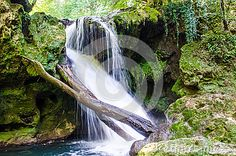 Photo about Pacefull place in forest, place o scilence near an amazing waterfall. Image of waterfall, background, nature - 89698107 Vectors, Waterfall, Sign, Stock Photos, Places, Nature, Free, Outdoor, Image
