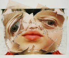 Annegret Soltau // Fragmented self + thread - Earlie Seabrocke Distortion Photography, A Level Photography, Photography Projects, Fine Art Photography, Portrait Photography, Street Photography, Photomontage, Face Distortion, A Level Art