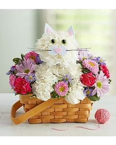 Order Fabulous Feline™ flower arrangements from All Flowered Up Too, your local Lubbock, TX florist. Send Fabulous Feline™ floral arrangement throughout Lubbock and surrounding areas. Easter Flower Arrangements, Easter Flowers, Mothers Day Flowers, Floral Arrangements, Creative Flower Arrangements, Mothers Day Balloons, 800 Flowers, Send Flowers, Purple Flowers