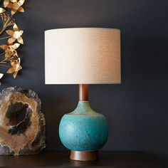 Modernist Table Lamp - Turquoise | West Elm