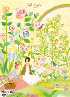 adver06/(株)ワールド pinkadobe 2012春ポスタービジュアルイラスト