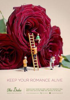"""Keep your romance alive"" Poster for The Duke, shopping center. #poster #advert #advertising #mall #romance #love #stvalentin #valentinsday #gift #shopping #mall #shoppingmall #theduke #gozo #keen #campaign"
