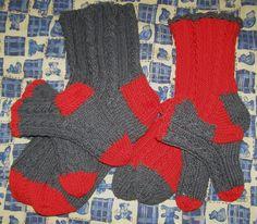 knitted family socks