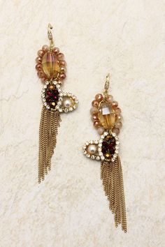 Champagne Alessandra Earrings.