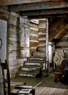 old wood steps