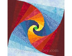 Mind's Eye quilt block paper pieced quilt by PieceByNumberQuilts
