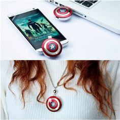 Marvel Avengers: Age of Ultron America Captain Shield OTG + USB3.0 Flash Drive