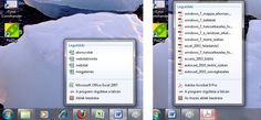 Windows 7: Jump List menü